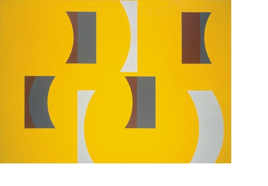 <b>Washington DC No. 2 (Yellow)</b> 1969, acrylic on canvas, 122 x 168 cm
